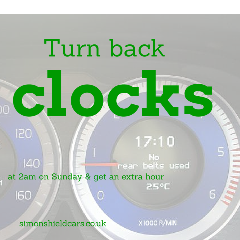 Clocks turn back tonight