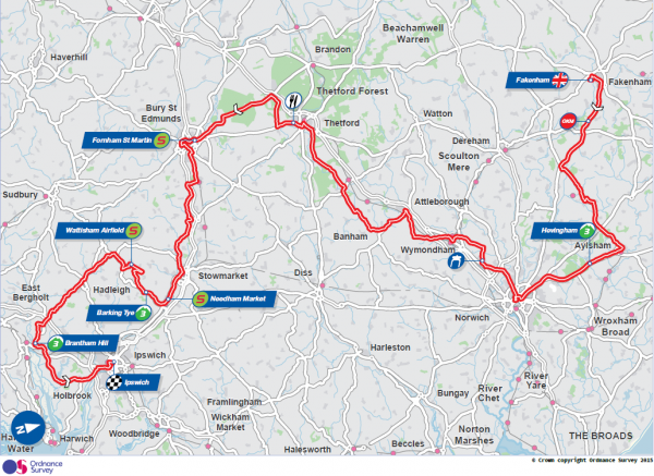 Tour of Britain Cycle ride goes via Simon Shield Cars Ltd