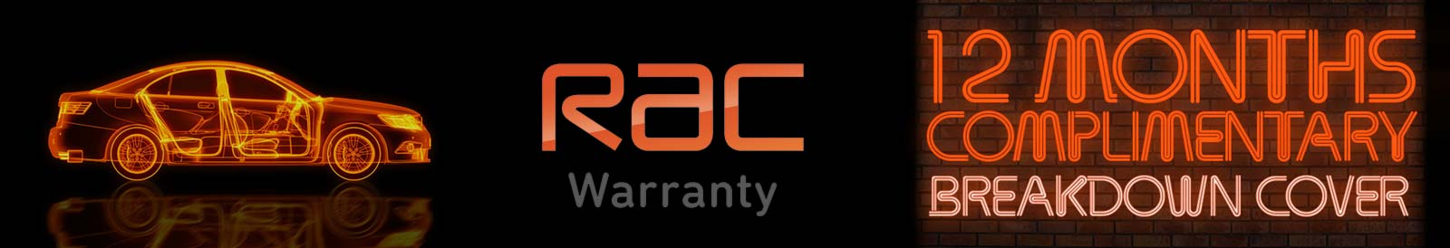 RAC Warranty 12 months free breakdown cover - simon shield cars